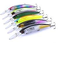 Feicuan 5CM/5G Esche da Pesca Plastic Lure Fishhooks Angling Tools Tackle Stosh Crank Gear Esche e insetti Pack of 4 Kit di esche