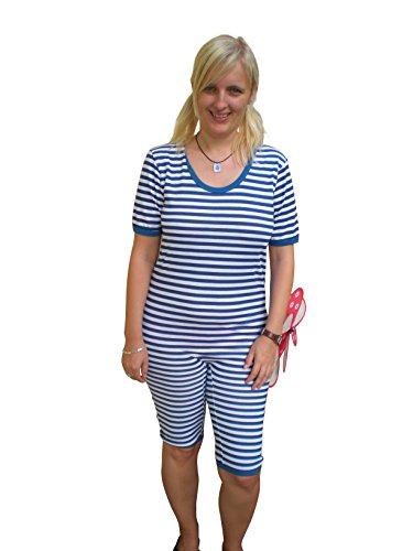 Ramona Lippert Ringelbadeanzug (Large, blau-weiß)