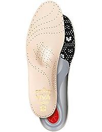 PEDAG Viva Mini - Plantilla Corta de Piel para Zapatos Tallas Grandes, marrón, EU 43