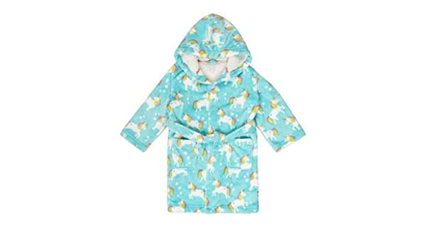 Kids Boys Dressing Gown Age 1-14 Years Blue