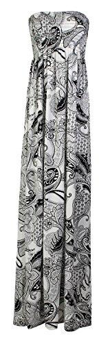Fast Fashion Damen Maxi Kleid Plus Größe Leopardstreifen Tie-Dye Blumendruck