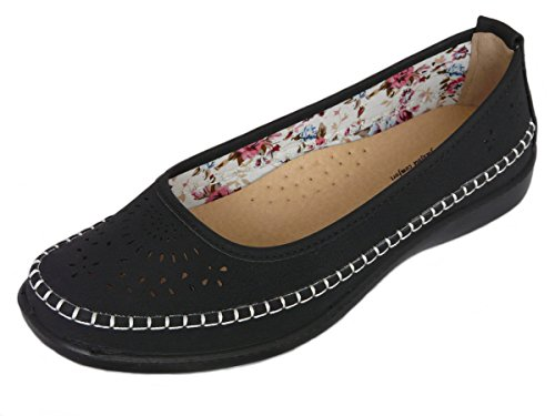 2492a05355e Cushion Walk Women s Ladies Lightweight Slip-On Faux Leather Flats