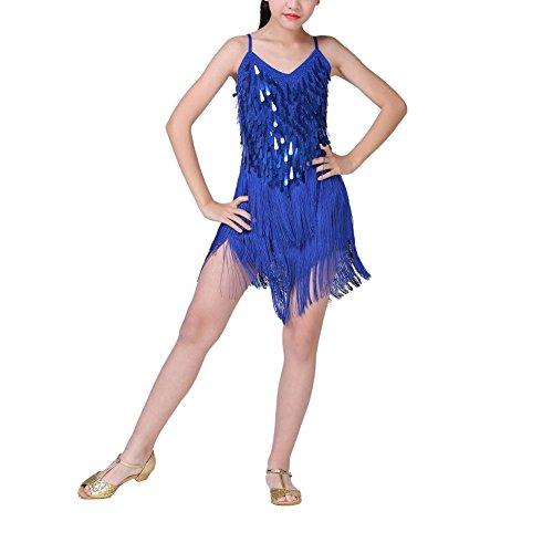 ESHOO Mädchen Latein Tanzkleid, Kinder Latin Rumba Salsa -