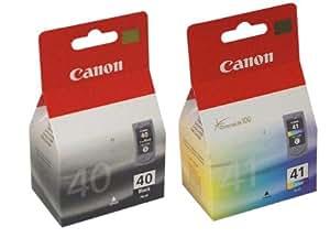 Genuine Canon PG40 Black & CL41 Colour Ink Cartridges For PIXMA MP220 Printer