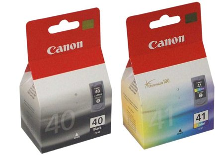 2 Canon Pixma MP160 Original Printer Ink Cartridges - Black+Tri-Colour- High Capacity - Pg-40 Cartridge Ink