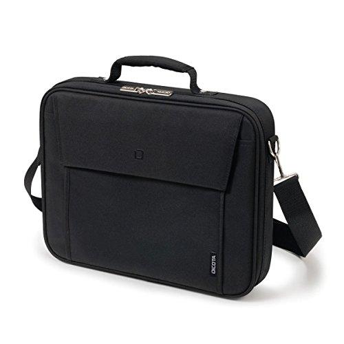 Dicota MultiBase Notebooktasche 15-17,3 Zoll mit Metalldrahtrahmen, Schwarz