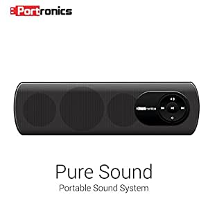 Portronics Pure Sound POR-102 2.0 Portable Speaker System (Black)