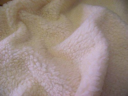 CRS Fur Fabrics Kunstfell Sherpa Fleece Pelz Stoff Material-Creme (Lammfell Shopper)