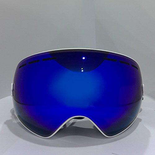Hicool Profi Unisex Skibrille Snowboardbrille Anti-UV,Anti-Fog,Schnee,Nebel Goggle Weitwinkel für Freien Schnee Skifahren Snowboard Skate Snowmobile Motorrad Wintersport Brillen