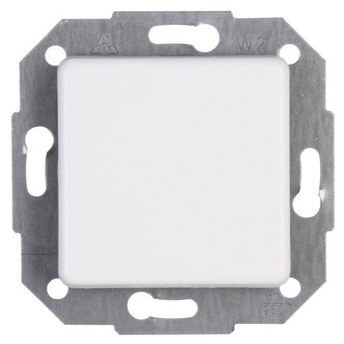 Kopp Europa Universalschalter (Aus- und Wechselschalter), Lichtschalter für den Haushalt, 250 V (10A), IP20, Unterputz, einfache Wandmontage, arktis-weiß, 613613082