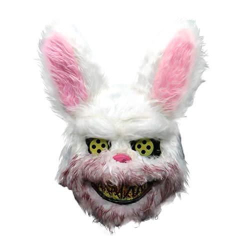 Jourbon Gruselig Böse Blutige Maske Halloween Horror Masken Maskerade Party Cosplay Maske knifflige Maske, One Size (Böse Kaninchen Kostüm)
