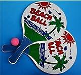 2Schläger Strand Beach Ball 33x 18,5cm + 1Ball