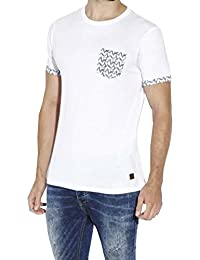 Brave Soul - T-shirt - Chemise - Uni - Col Rond - Homme blanc blanc Small