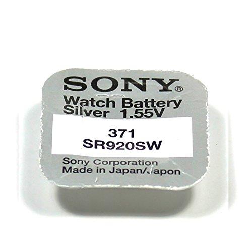 SONY 371 LOT DE 5 PILES SILVER OXIDE 1,5V