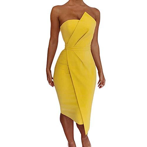 ✿✿ Amlaiworld Mode Party Schulterfrei Sommerkleid Vintage Beauty Abendkleider Elegant Bequeme Kleid Frauen bunt kurz Wickelkleid