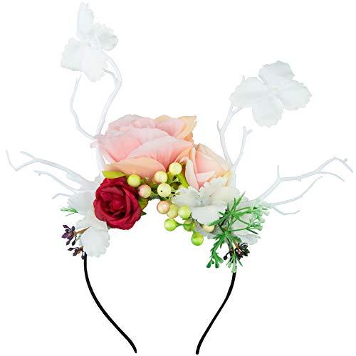 dressforfun 302794 Donna Accesorio Ornamento per Il Capo, Bianco Multicolore, Carnevale Festa