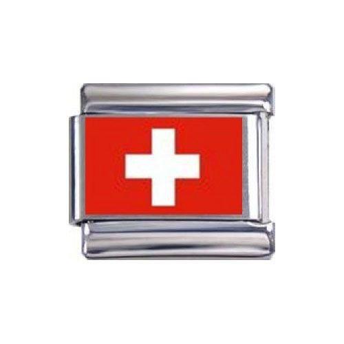 Italian Charms Modul Flagge der Schweiz (Foto) ...by Kult-Schmuck