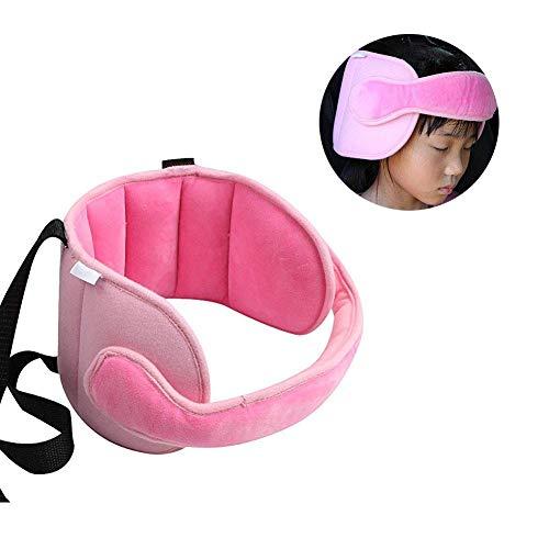 Kleinkind-Autositz Schlaf Kopf Support - Kindersicherheit Neck Relief Carseat Nap Aid-Halter-Band-Baby-Geschenk (Rosa) - Aid Band