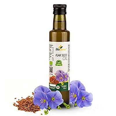 Certified Organic Cold Pressed Flax Seed Oil 250ml Biopurus from Austria