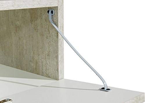 Wohnwand Anbauwand mit Lowboard 3-teilig 543687 betonfarben - 4