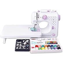 Mini máquina de coser Máquina de coser con 12 programas de coser de brazo libre Máquina de coser eléctrica todos en con mesa de alimentación y pies de coser 11pc y accesorios de máq