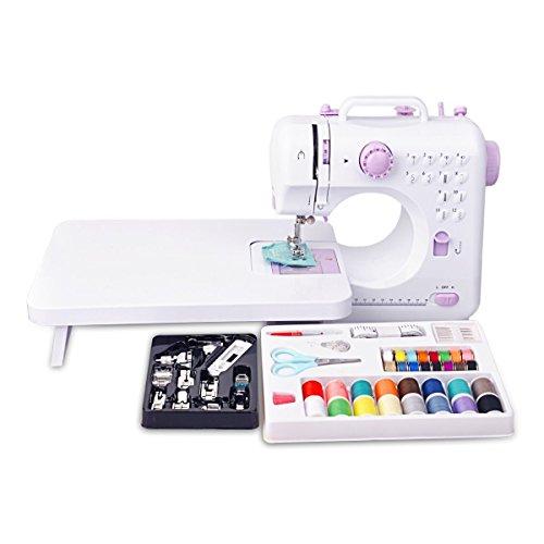 Mini máquina de coser Máquina de coser con 12 programas de coser de
