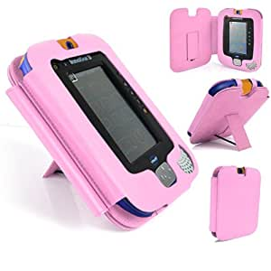 Gadget Giant ® VTech InnoTab 3 Pink Leather Wallet Case Cover Stand Protector