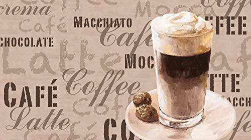 Artland Design Spritzschutz Küche I Alu Küchenrückwand Herd BxH: 90x50 cm sehr schnelle und einfache Montage Kaffee - Latte Macchiato