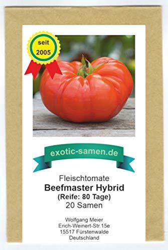 Rote Riesen-Fleischtomate - bis 1 kg schwer - Beefmaster Hybrid - 20 Samen