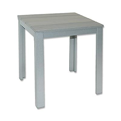 Gartentisch mit Holzplatte 36x36x43 cm Beistelltisch Terassentisch Tisch NEU