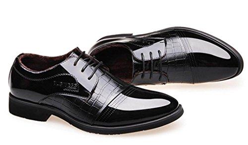 Chensh Hommes Chaussures Plus Cachemire Chaud Casual Britannique Brevets D'automne Et D'hiver Automne Coton Chaussures Noir
