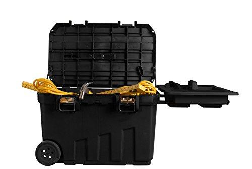 Stanley Werkzeugbox (76,8 x 49 x 47,6 cm, mobile Box für Werkzeuge, hohes Volumen von 90l, Werkzeugaufbewahrung mit Metallverschlüssen, herausnehmbare Ablage) 1-92-978