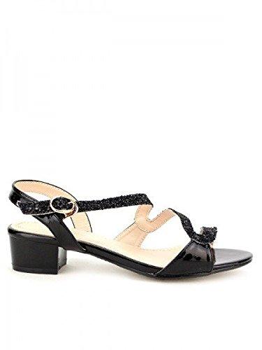 Cendriyon, Sandale vernie Noire LIANA Chaussures Femme Noir