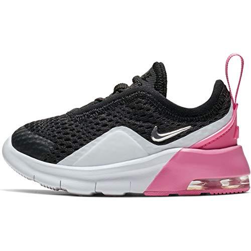 Nike Unisex Baby Air Max Motion 2 (TDE) Niedrige Hausschuhe, Mehrfarbig (Black/Metallic Silver/Psychic Pink/White 001), 22 EU
