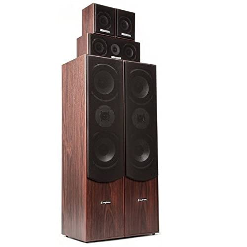 41nElZ%2BYatL. SS500  - Fenton 5.0 Home Cinema System Finish (1 set of speaker terminals, 335W RMS, 10 and 16cm woofer, removable front panels) - Walnut