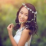 Simsly Boho Couronne Couronne de Fleurs Mariage Guirlande Serre-Tête Floral Accessoires Cheveux pour Femme Fille
