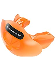 Shock Doctor Max Air Flow Football Mouth Silicone Lipguard, Trans Orange, Adult