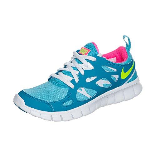 Nike FREE RUN+ 2 (GS) Junior 477701-402 Bleu