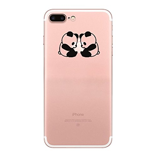 IPHONE 7 Hülle Traumfänger Ballon Karikatur Panda TPU Silikon Schutzhülle Handyhülle Case - Klar Transparent Durchsichtig Clear Case für iPhone 7 (BMW19-1) panda6