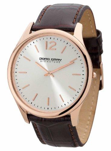 Jorg Gray JGS2560 - Orologio da polso, uomo, pelle, colore: marrone