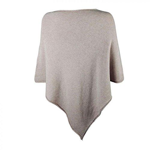 Glamexx24 Poncho da donna felpe cappotto maglione in diversi colori con una bellissima stella 15070 D.Grey