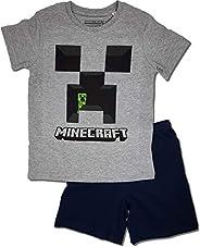 Minecraft Pigiama corto da ragazzo Creeper pigiama