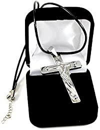 Johnny Hallyday Pendentif croix guitare acier 316 livraison immédiate Cordon + bourse