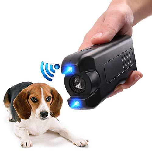 Rhww 3 En 1 Led Mano Repelente para Perros Y Entrenador contra Los Ladridos Detener Ladrar