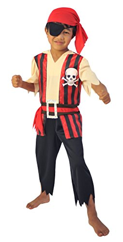 Cesar F531 Disfraz de pirata de 3 a 5 años