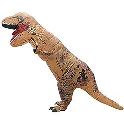 LaoZan T-Rex Traje inflable para adultos Disfraz de Halloween TRex