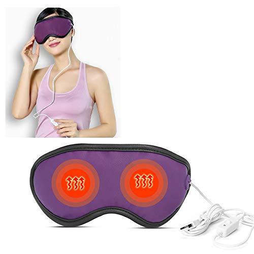 USBasmaske für Dampf, beheizte Augenmaske, weit Infrarot-Hitze + Steinnebel + Vibrationsmassage + Lavendelkräuter, verwendet, um Augenabstand zu lindern, dunkle Kreise entfernen, Schlafen helfen -