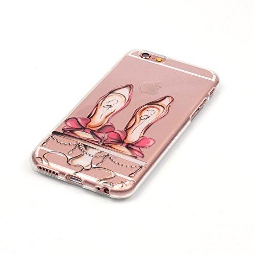 TPU Silikon Schutzhülle Handyhülle Painted pc case cover hülle Handy-Fall-Haut Shell Abdeckungen für Smartphone Apple iPhone 6 (4.7 Zoll) +Staubstecker (8FV) 8