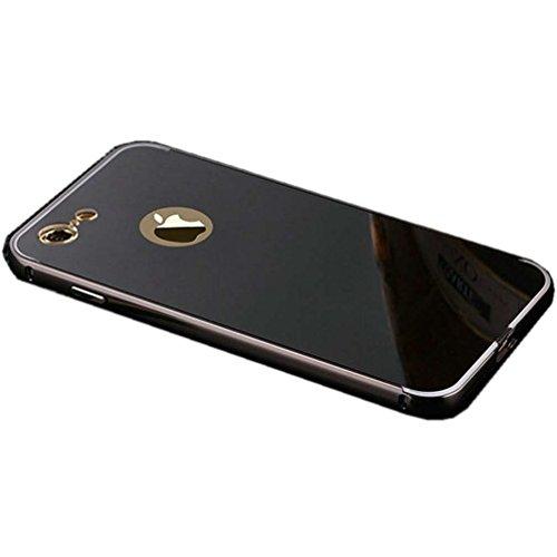"""Miroir Coque Pour iPhone 7 [4.7""""], or Métal Mince Noble Accessoires Série AOFad AB034 AB033+Black"""