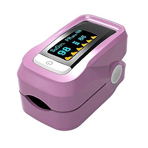 Anself Alarm Digital-Oximeter Blut-Sauerstoff-Sensor Fingerspitze Pulse Pulsmesser Meter OLED Display SpO2 Instant Read